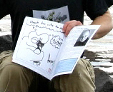Close-up on Rob's sketched book