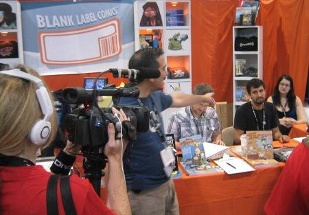 Brad Guigar in front of the BLC Booth at Comic-Con 2007