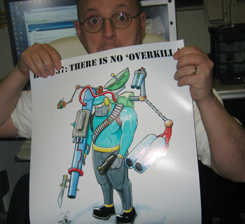 Howard holding the Rule 37 Print