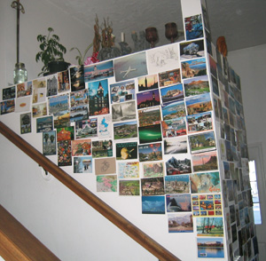 Howard's 40th Birthday Postcard Wall, March 11th, 1-of-2