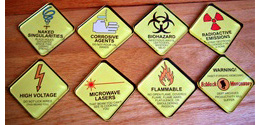 Schlock Mercenary Warning Sign Magnets