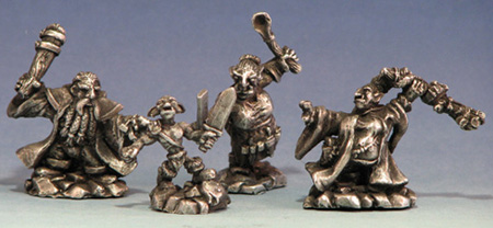 Goblin Quest miniatures from Garden Ninja Painting Studio, sculpted by Drew Olds