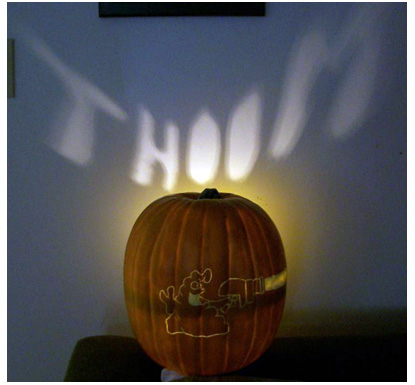 Schlock Pumpkin by J. Krupp, Illuminated