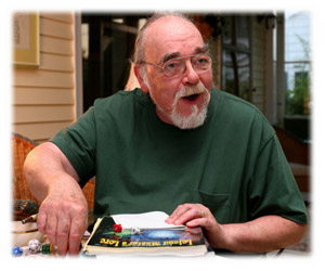 Gary Gygax at home in Lake Geneva, Wisconsin. Photo by Thomas Hand Keefe