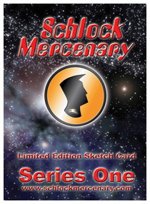 Schlock Mercenary ACEO Series One -- Card Back