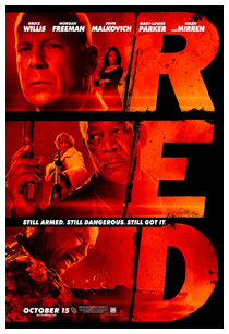 Red, starring Bruce Willis, Morgan Freeman, John Malkovich, Mary Louise Parker, and Helen Mirren